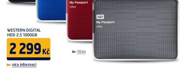 HDD 2,5 1000GB USB 3.0 My Passport ULTRA Titanium