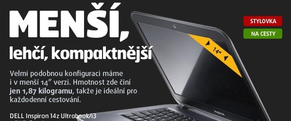 """Inspiron 14z Ultrabook/i3-2227U/4GB/500GB+32GB SSD/14""""""""/ceska klavesnice/HD/BT/CAM/int. grafika/Win8 64bit MUI"""