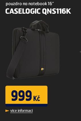 """QNS116K pouzdro na notebook 16"""" černé"""