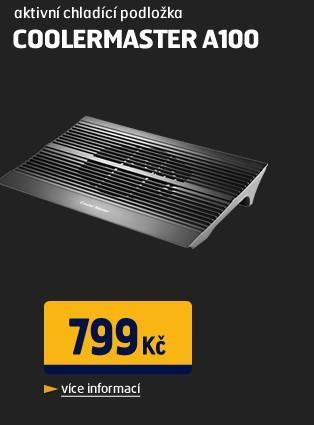 """A100 - Aktivní chladící podložka pro notebook s USB, pro notebook do 15"""""""