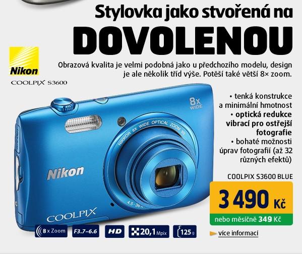 COOLPIX S3600 BLUE