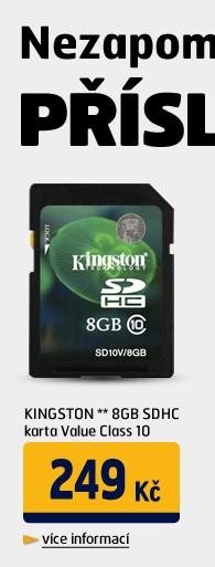 ** 8GB SDHC karta Value Class 10