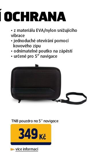 Pouzdro na 5 navigace, EVA/nylon, kovový zip, odnímatelné poutko na zápěstí