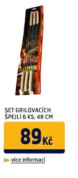 SET GRILOVACÍCH ŠPEJLÍ,6KS,48CM