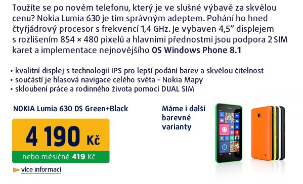 Lumia 630 DS Green+Black