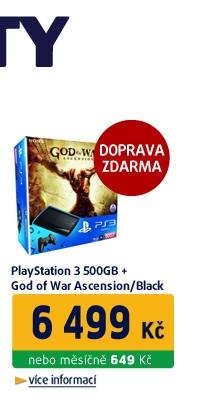 PLAYSTATION 3 500 GB + GOD OF WAR ASCENSION