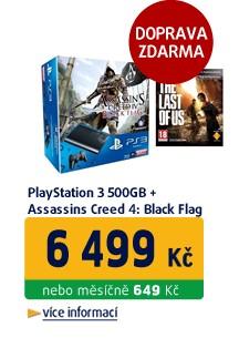 Playstation 3 500GB + Assassins Creed 4: Black Flag