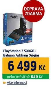 Playstation 3 500GB + Batman Arkham Origins