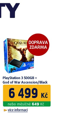 PLAYSTATION 3 500 GB + GOD OF WAR ASCENSION