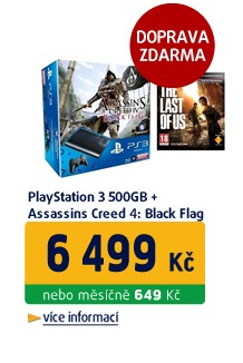 Playstation 3 500GB + Assassins Creed 4: Black Flag