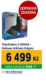 Playstation 3 500GB + Batman Arkham Origins