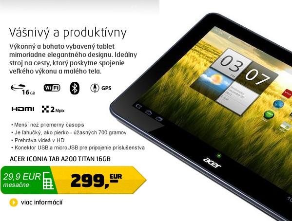 Iconia Tab A200 titan 16GB