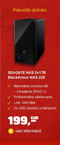 NAS server 2x1TB BlackArmor NAS 220