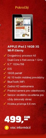 iPad 2 WI-FI 3G 16GB čierny