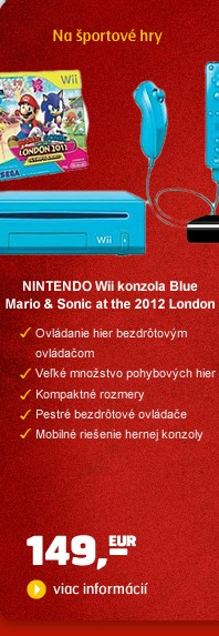 Wii Konzole Blue + Mario & Sonic at the 2012 London