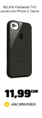 BELKIN Priehladné TPU puzdro pre iPhone 5, čierne