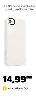 BELKIN Pevné nepriehladné puzdro pre iPhone 5, biele
