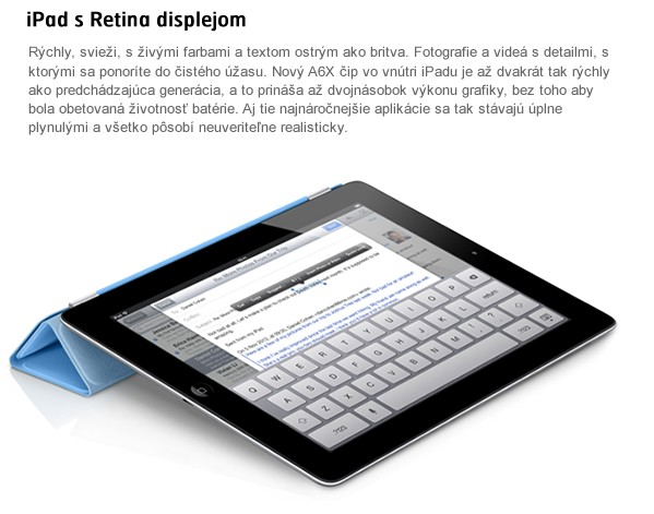 iPad with Retina display 32GB Wi-Fi černý