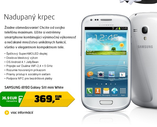 i8190 Galaxy SIII mini White