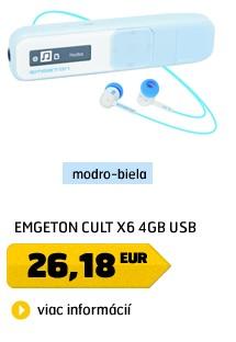 CULT X6  4GB  Blue/White USB plug in