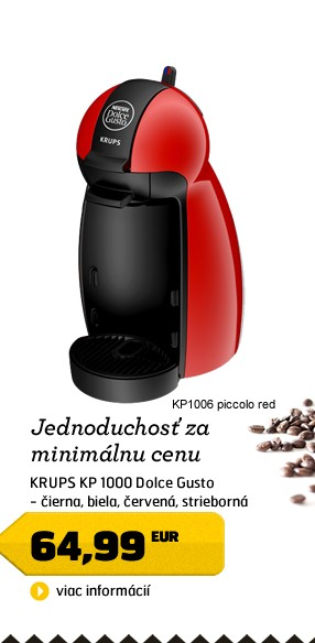 KP1006 Dolce Gusto piccolo red