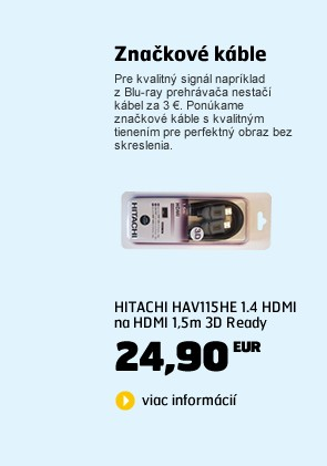 HAV115HE 1.4 HDMI na HDMI 1,5m 3D Ready /1292692/