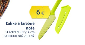 5.5''/14cm Santoku nůž zelený