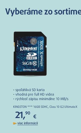 *** 16GB SDHC karta Class 10 G2 UltimateX