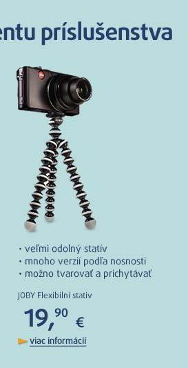 Flexibilní stativ pro dig. fotoaparáty