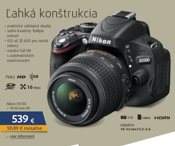 D5100 + 18-55 AF-S DX VR
