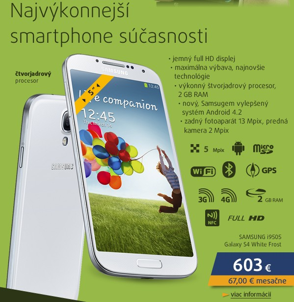 i9505 Galaxy S4 White Frost