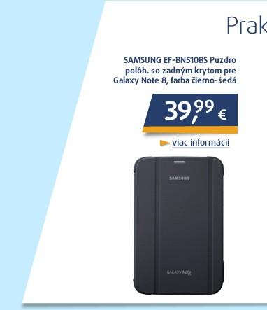 EF-BN510BS Pouzdro poloh. se zadním krytem pro Galaxy Note 8