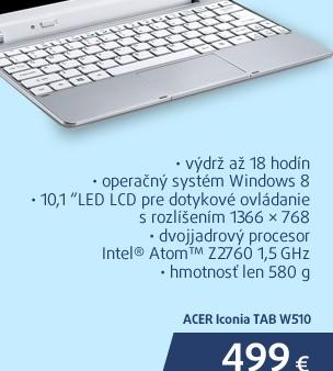 Iconia TAB W510
