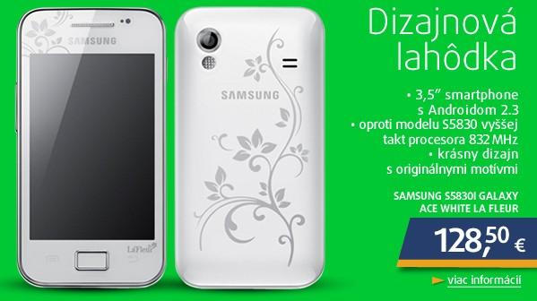 S5830i Galaxy Ace White La Fleur