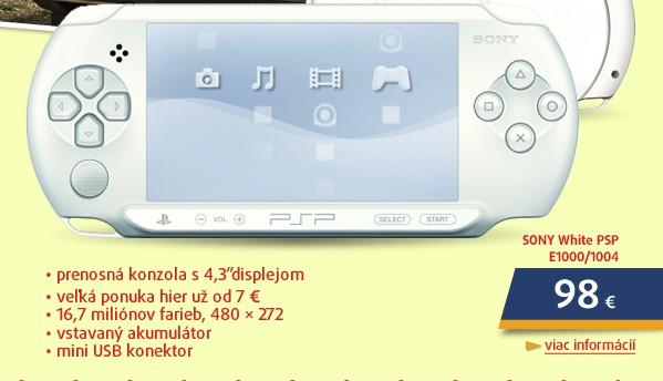 White PSP E1000/1004