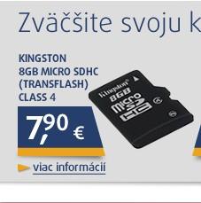 * 8GB Micro SDHC (Transflash) Class 4