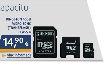 * 16GB Micro SDHC (Transflash) Class 4