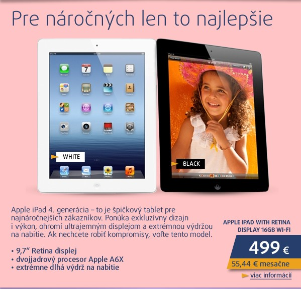 iPad with Retina display 16GB Wi-Fi bílý