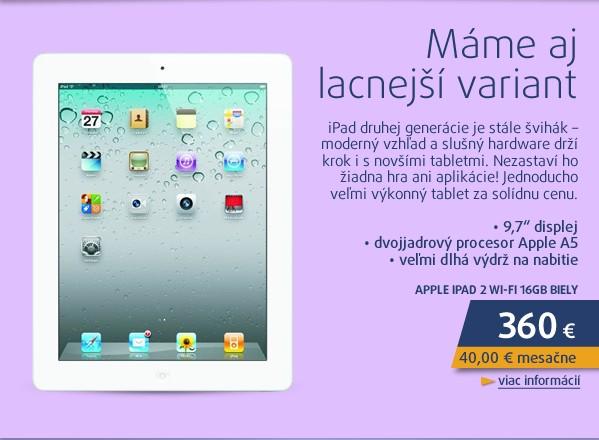 iPad 2 WI-FI 16GB biely