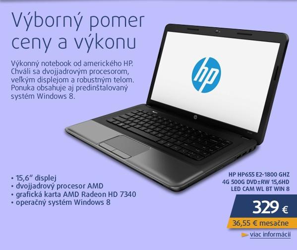 HP655  E2-1800 GHz 4G 500G DVD±RW 15,6HD LED CAM WL BT Win 8