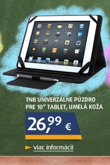 """Univerzálne púzdro pre 10"""" tablet, umelá koža, čierna, bez s"""