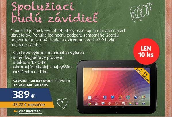 Galaxy Nexus 10 (P8110) 32 GB Charc.Grey