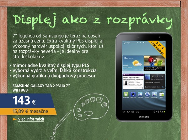 Galaxy Tab 2 P3110 7.0 WiFi 8GB