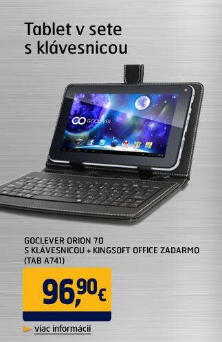 ORION 70 s klávesnicí + Kingsoft office zdarma  (TAB A741)