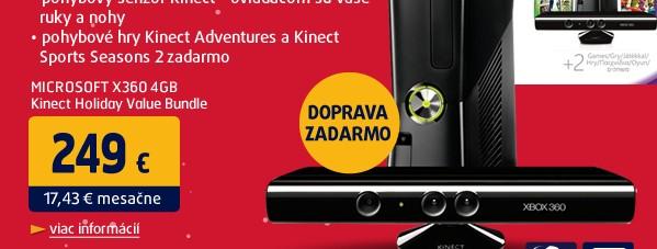 X360 4GB Kinect Holiday Value Bundle