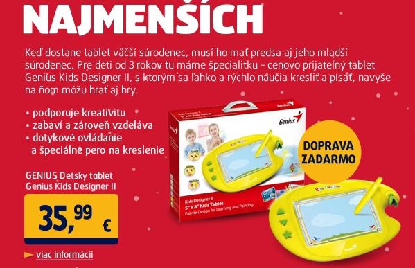 Detsky tablet Genius Kids Designer II