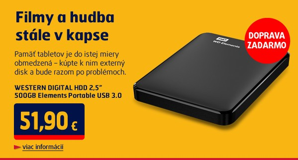 HDD 2,5 500GB elements USB 3.0