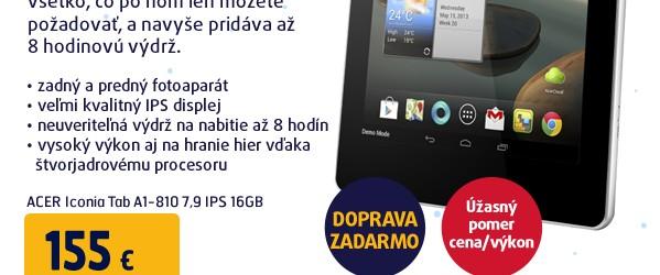 Iconia Tab A1-810 7,9 IPS 16GB white