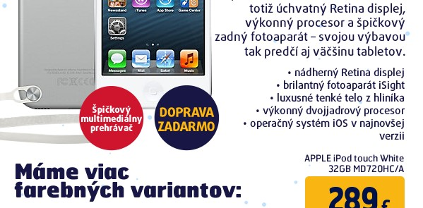 iPod touch 32GB - White MD720HC/A