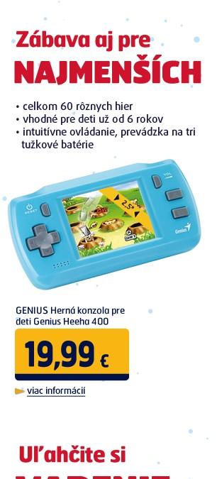 Herná konzola pre deti Genius Heeha 400